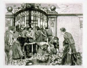 """Kathe Kollwitz, """"Riot"""" 1897"""