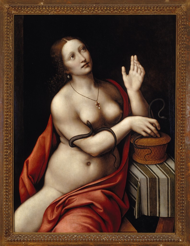 Giampietrino, Cleopatra, 1524-26. Oil on panel.