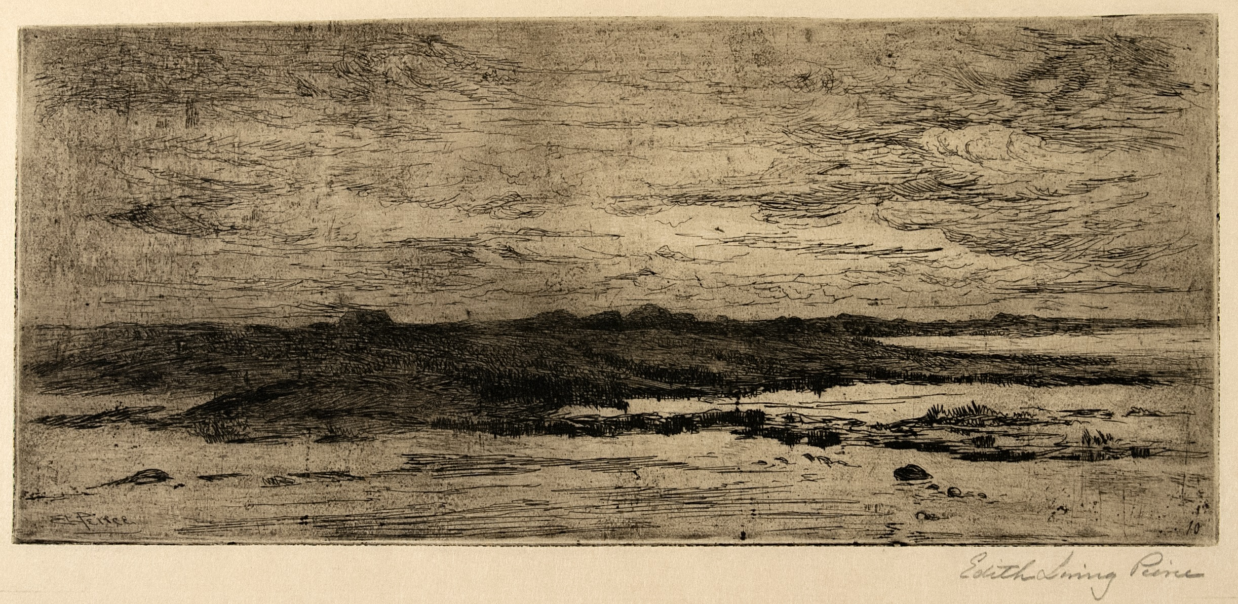 untitled [twilight skyline, possibly behind the sand dunes, or Sewell's point]