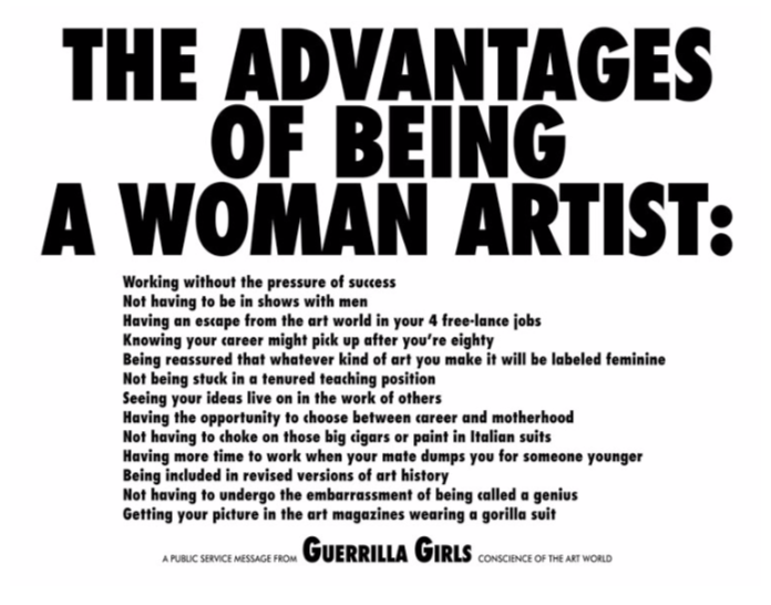 The Advantages of Being a Woman Artist 1988