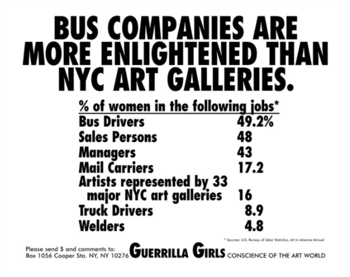 Bus Companies are More Enlightened Than NYC Art Galleries 1989