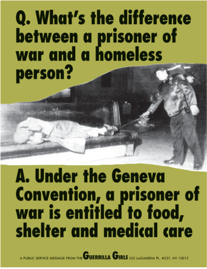 What's the Difference Between a Prisoner of War and a Homeless Person? 1991