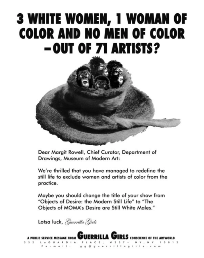 3 White Women, 1 Woman of Color and No Men of Color -- Out of 71 Artists?1997